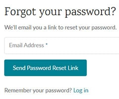 Password reset step one